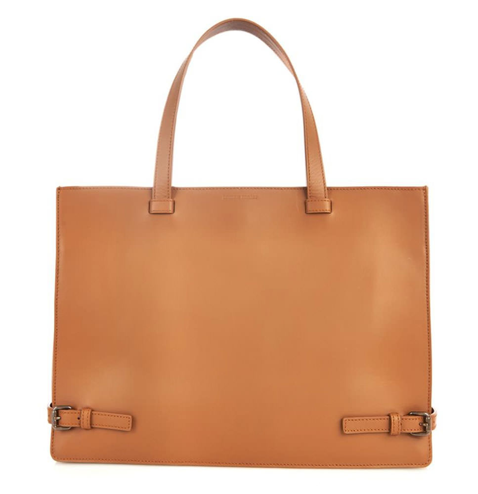 Tomas-Maier-Leather-Buckle-Tote