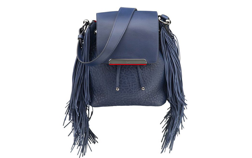 Christian Louboutin Lucky L Hobo Fringes Bucket Bag