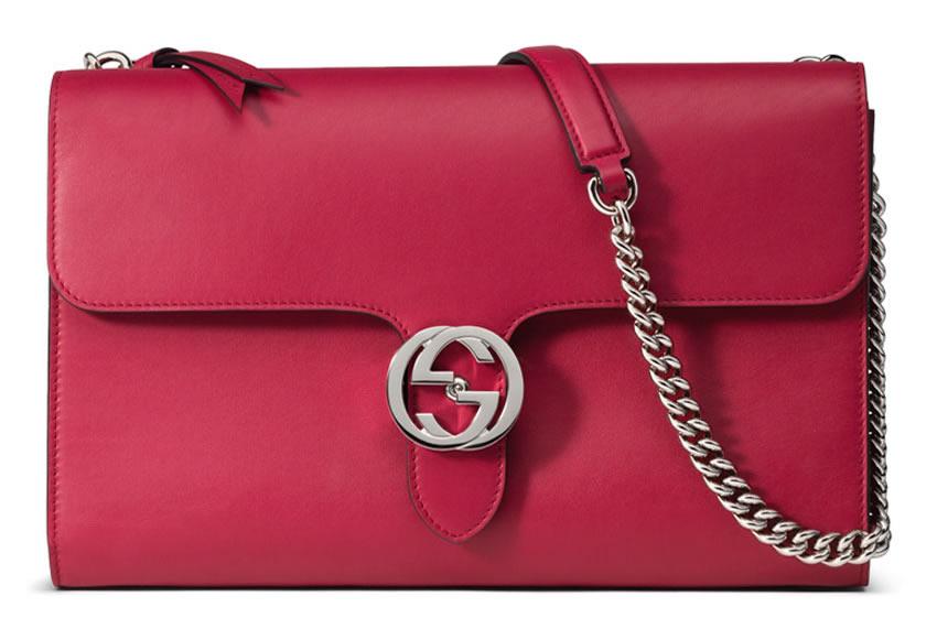 Gucci Interlocking Shoulder Bag Pink