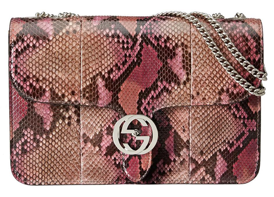 Gucci Interlocking Shoulder Bag Python