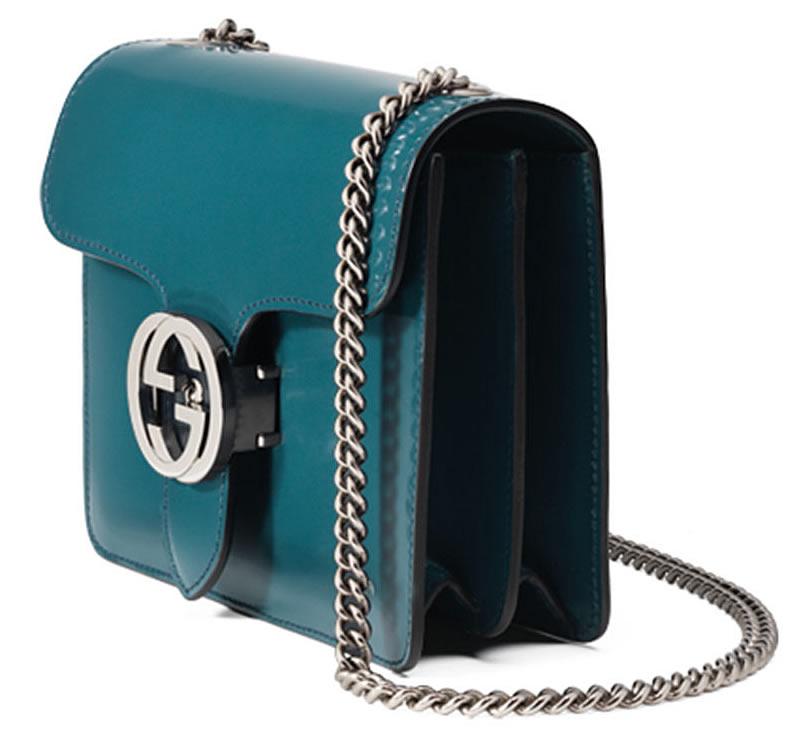 Gucci Interlocking Shoulder Bag Turquoise