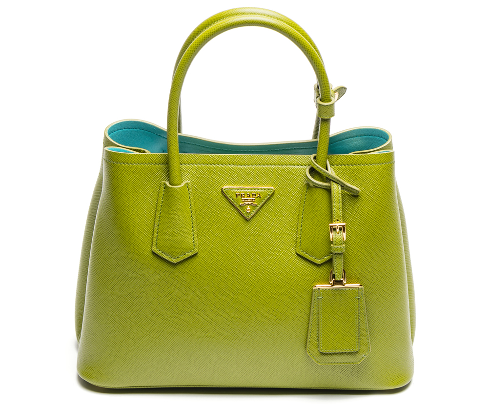 Prada Double Saffiano Cuir Edera and Anice