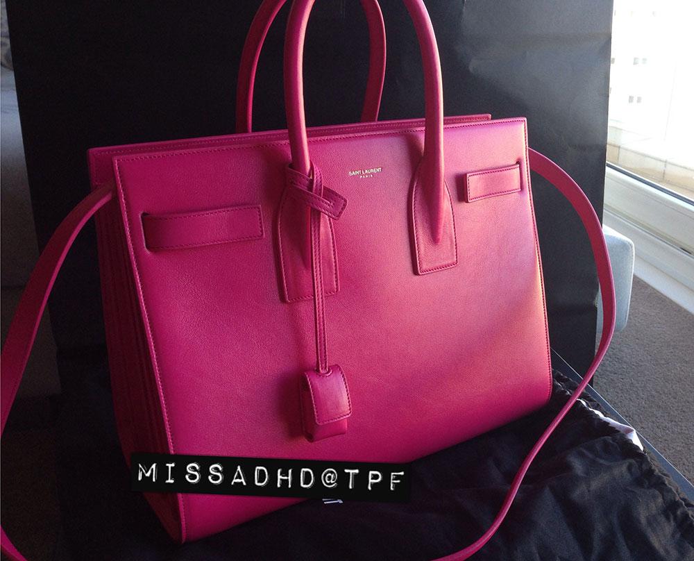 pink st laurent handbags