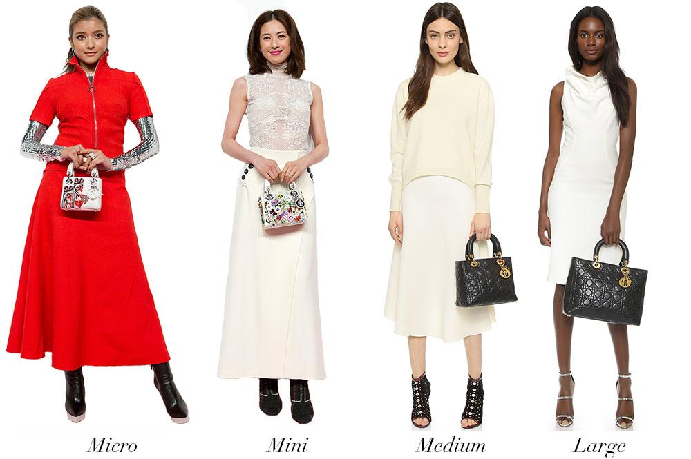 Christian-Dior-Lady-Dior-Modeling-Size-Comparison
