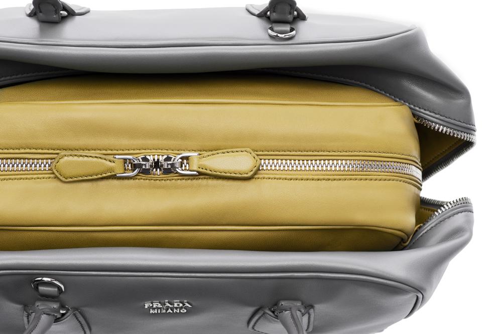 Prada Inside Bag Soft Calf Marmo Salvia Detail 03