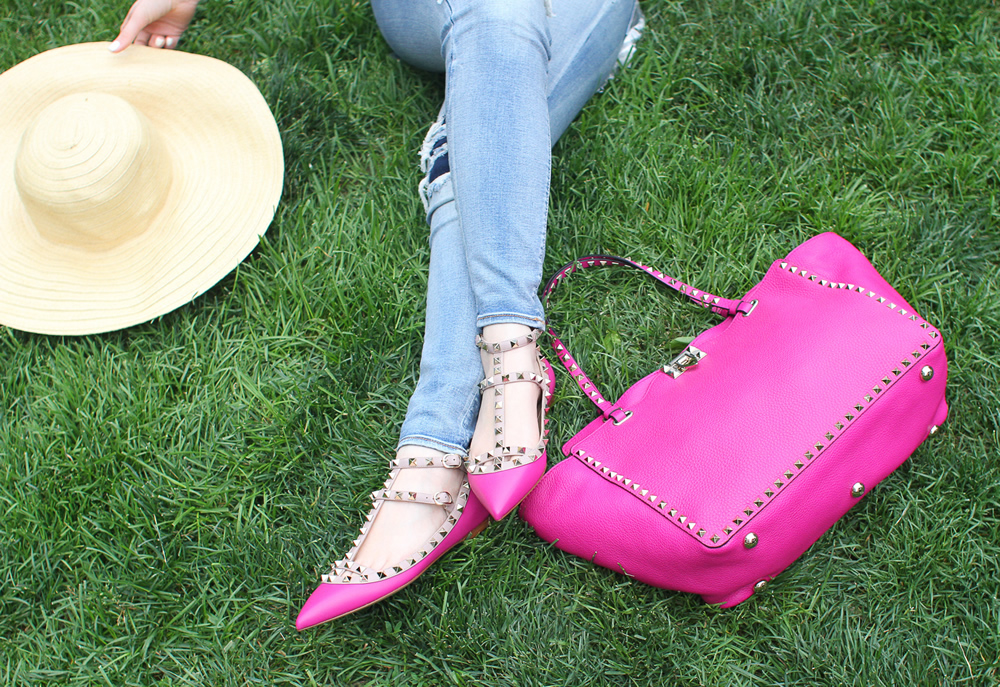 Valentino Rockstud Bag and Shoes