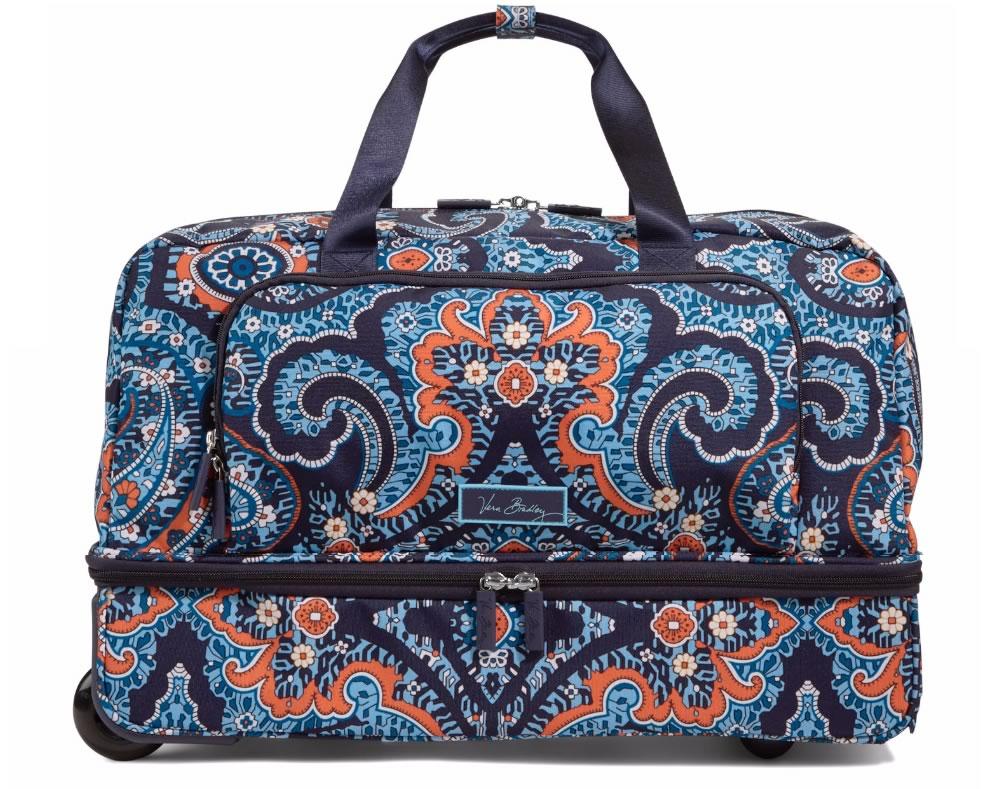 Vera Bradley Lighten Up Wheeled Carry On Luggage In Marrakesh
