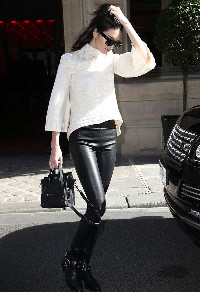 celine black tote - Kendall Jenner Loves Her C��line Nano Luggage Totes More Than I ...