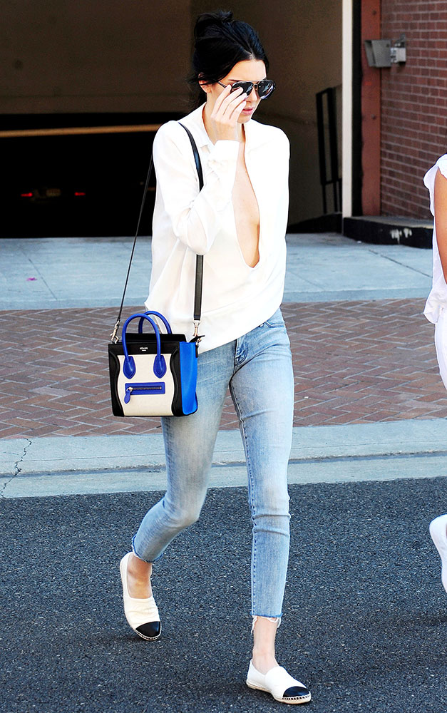 celine luggage phantom suede - Kendall Jenner Loves Her C��line Nano Luggage Totes More Than I ...
