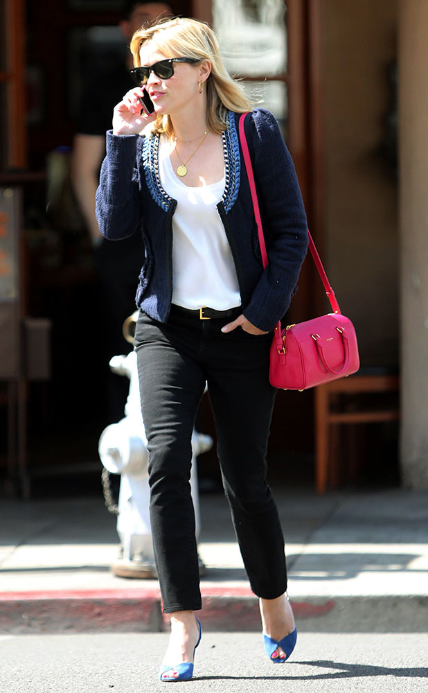 chloe marcie bag knockoff - Just Can't Get Enough: Reese Witherspoon and Her Pink Handbags ...