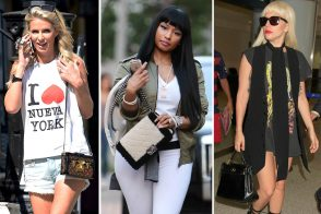Black Leather Bags Dominate This Week's Celebrity Handbag Round-up