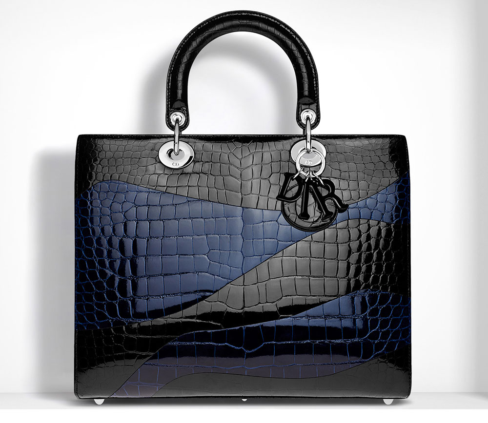 Christian Dior Crocodile Large Lady Dior Bag