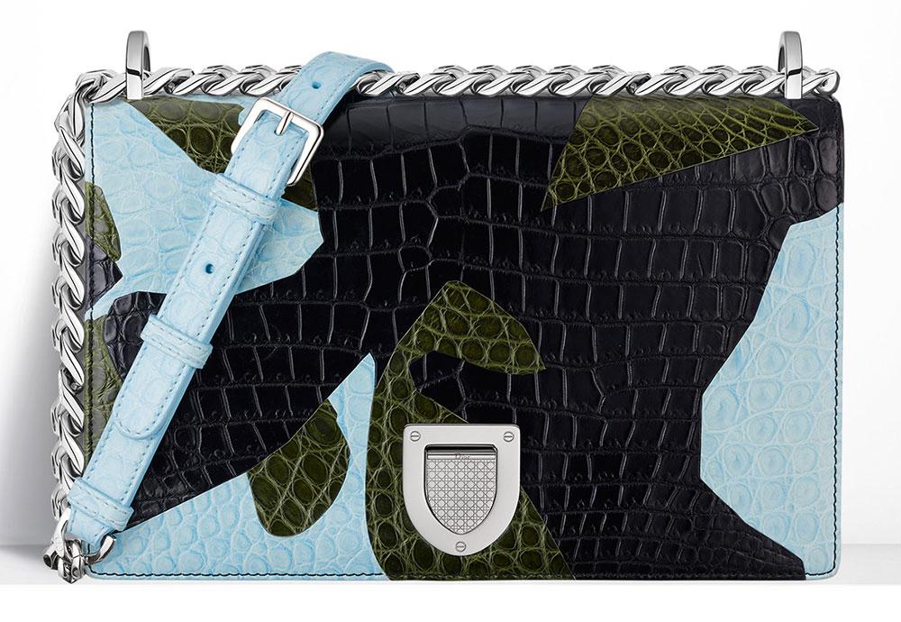 Christian-Dior-Diorama-Bag-Patchwork-Crocodile-Blue