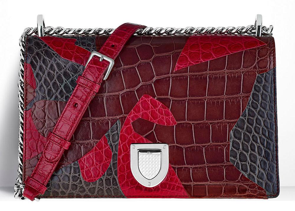 Christian-Dior-Diorama-Bag-Patchwork-Crocodile-Red