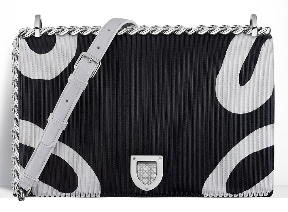 Christian-Dior-Diorama-Bag-Printed-Patchwork-Leather-Black