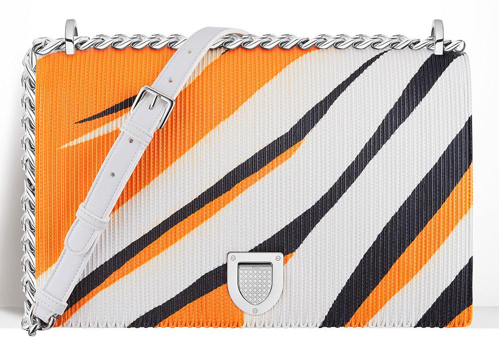 Christian-Dior-Diorama-Bag-Printed-Patchwork-Leather-Orange