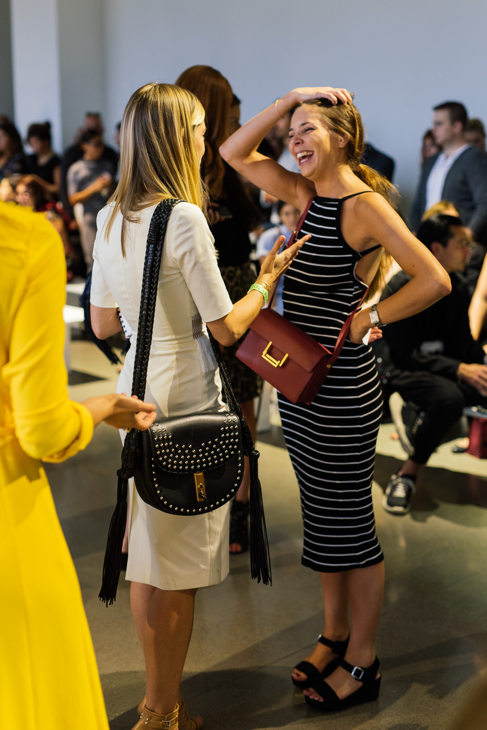 yves saint laurent patent leather bag - The Best Bags of NYFW Spring 2016 Street Style �C Day 4 - Page 5 of ...