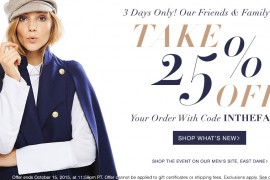 The 25% Off Shopbop Friends & Family Sale is on Now!