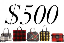 5 Under $500: Mad About Plaid Bags