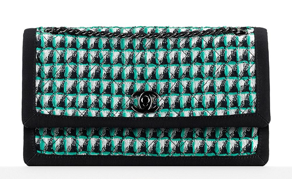 Chanel-Tweed-Flap-Bag-Green-2800