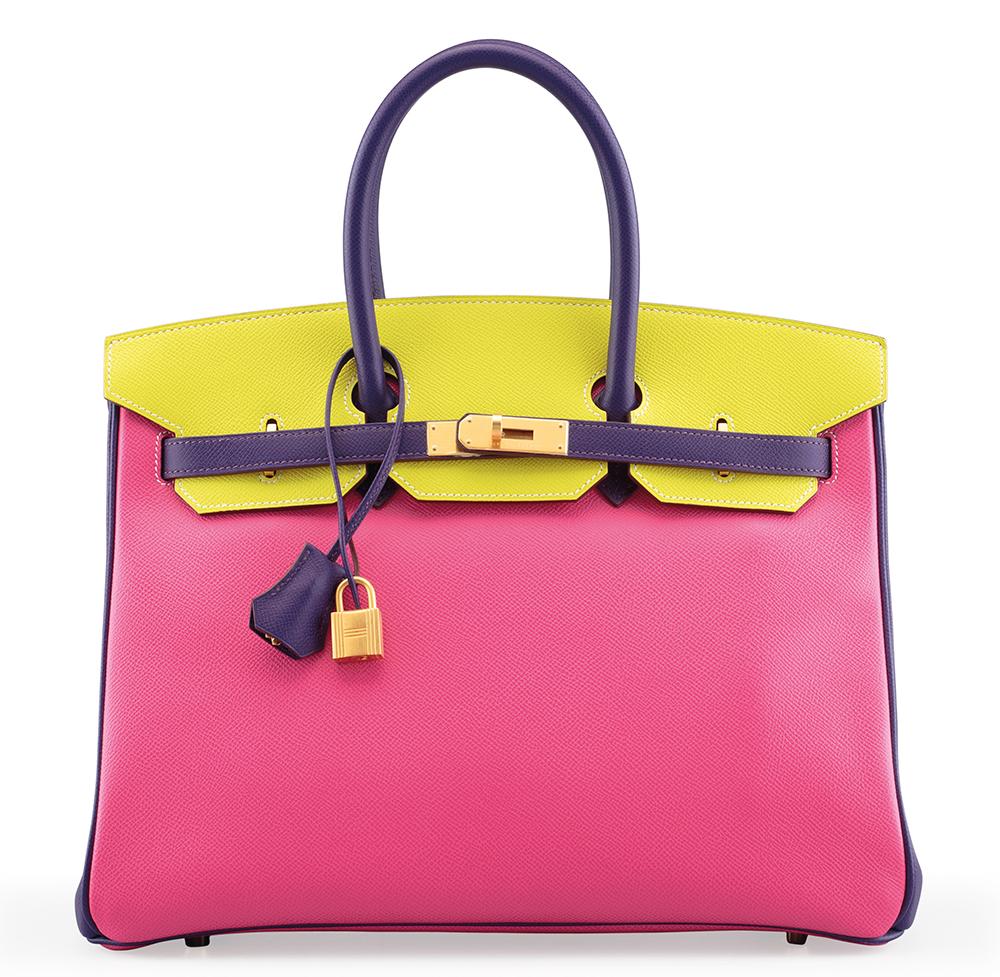 Hermes-Birkin-Special-Order-Horseshoe-Rose-Shocking-Crocus-Lime-Epsom-35cm