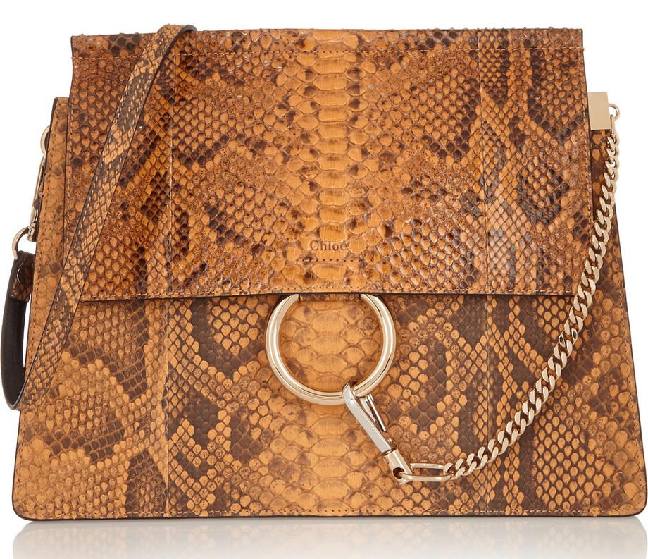 Chloé Python Faye Bag, Was $3,800, now $2,660 via Net-a-Porter