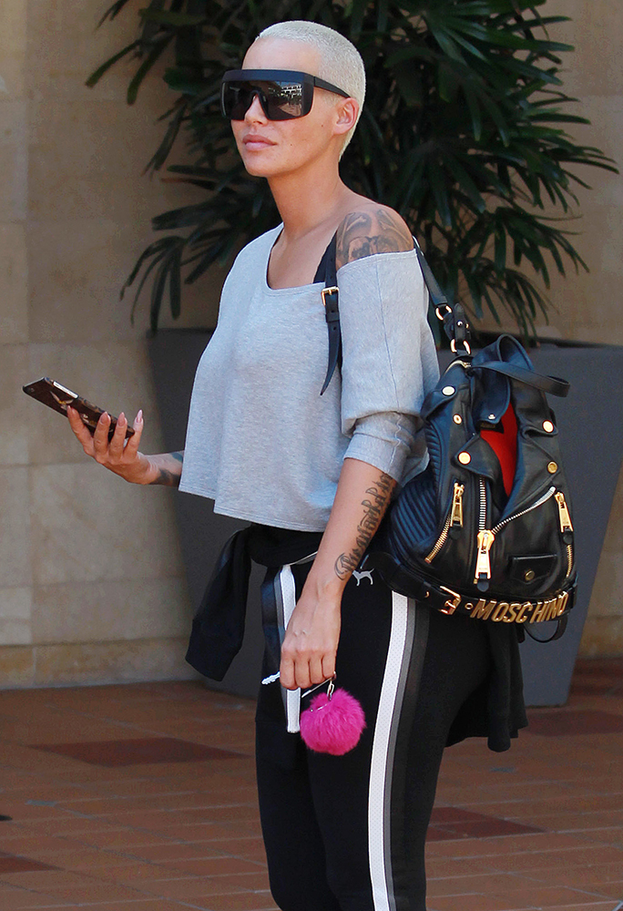 Amber-Rose-Moschino-Biker-Jacket-Backpack
