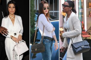 Celebs Holiday Shop While Carrying Bags from Chanel, Céline, and Louis Vuitton