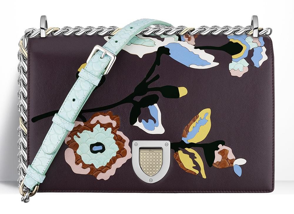 Christian-Dior-Diorama-Leather-Applique-Floral-Bag