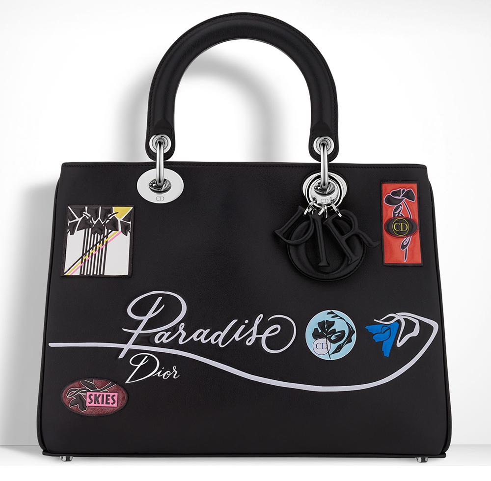Christian-Dior-Diorissimo-Black-Embroidered-Bag