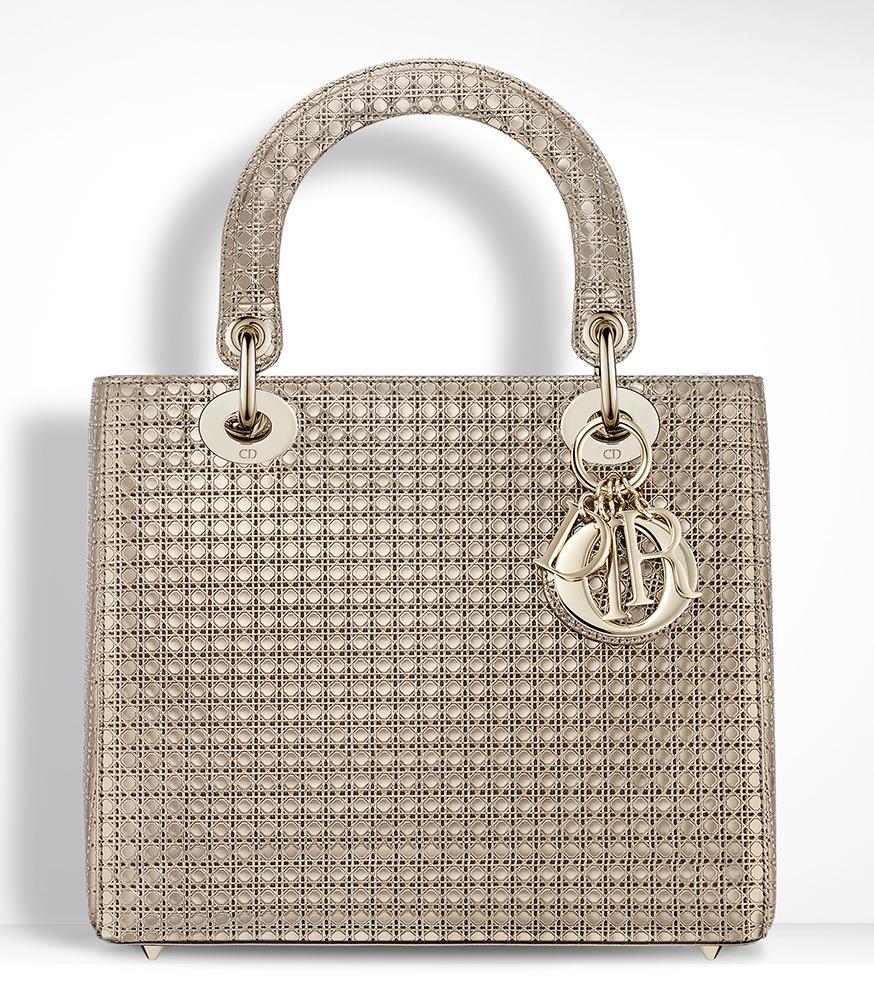 Christian-Dior-Lady-Dior-Bag-Gold-Metallic-Mini-Cannage