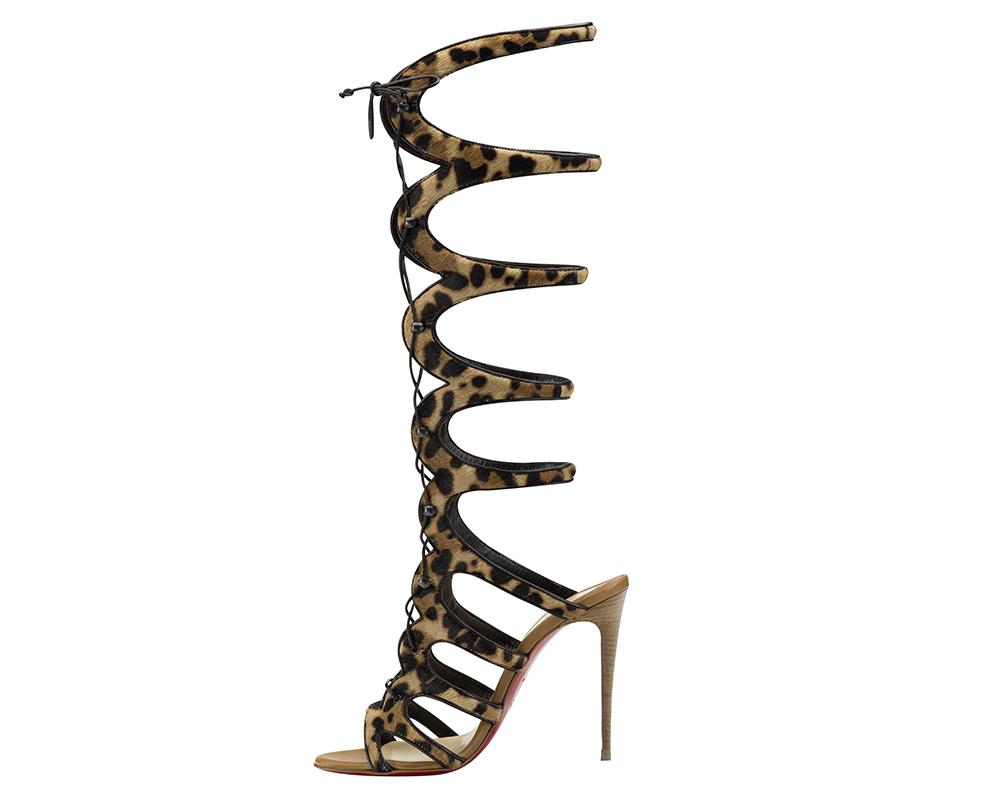 christian louboutin zipper embellished slide sandals