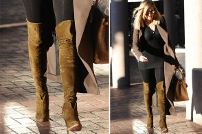 Celebs Are Over the Moon for Over-the-Knee Designer Boots This Week