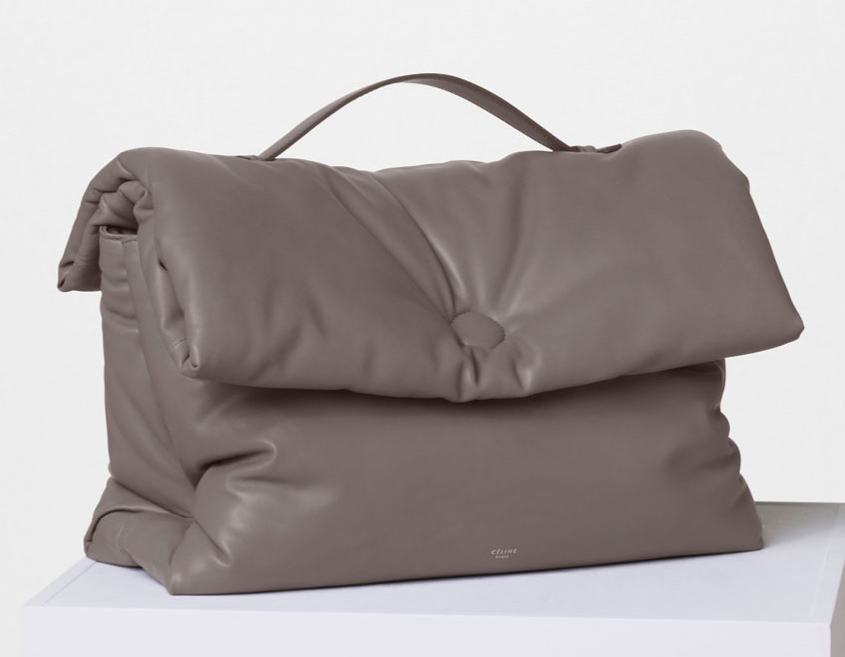 Celine-Cartable-Pillow-Handbag-Grey-3100