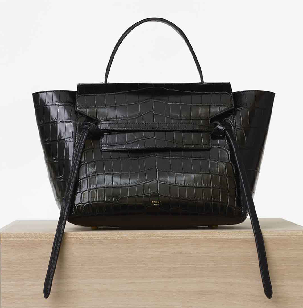 celine nano luggage crocodile bag