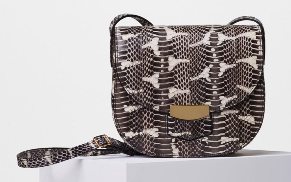 Celine-Small-Trotteur-Shoulder-Bag-Black-Watersnake-3250
