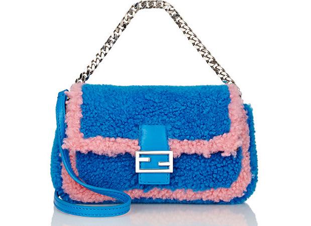 Fendi-Shearling-Micro-Baguette-Blue