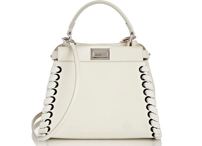 Fendi-Whipstitch-Mini-Peekaboo-Bag-White