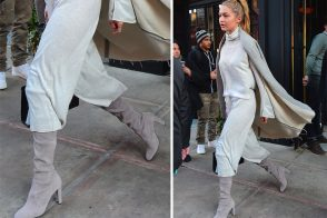 Celebs' High-End Boots were Made for Modeling but Seem Practical for Walking, Too