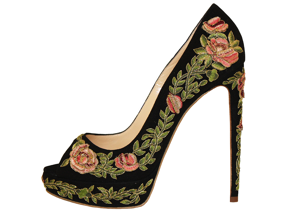 Marchesa Rose Floral Pump