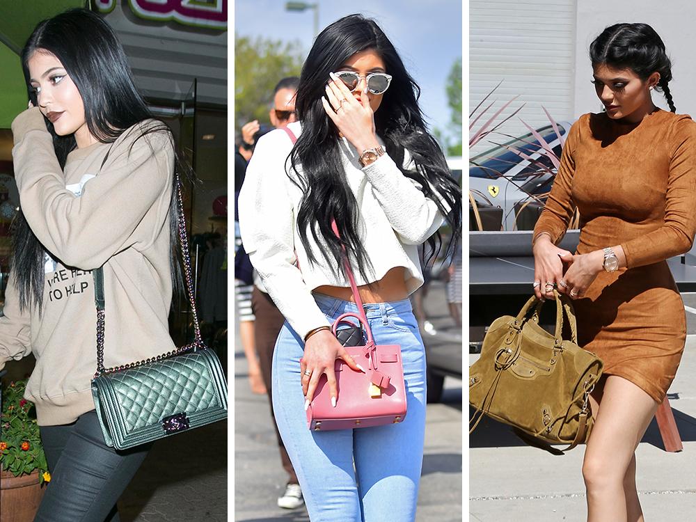 celine mini luggage black price - The Many Bags of Kylie Jenner - PurseBlog