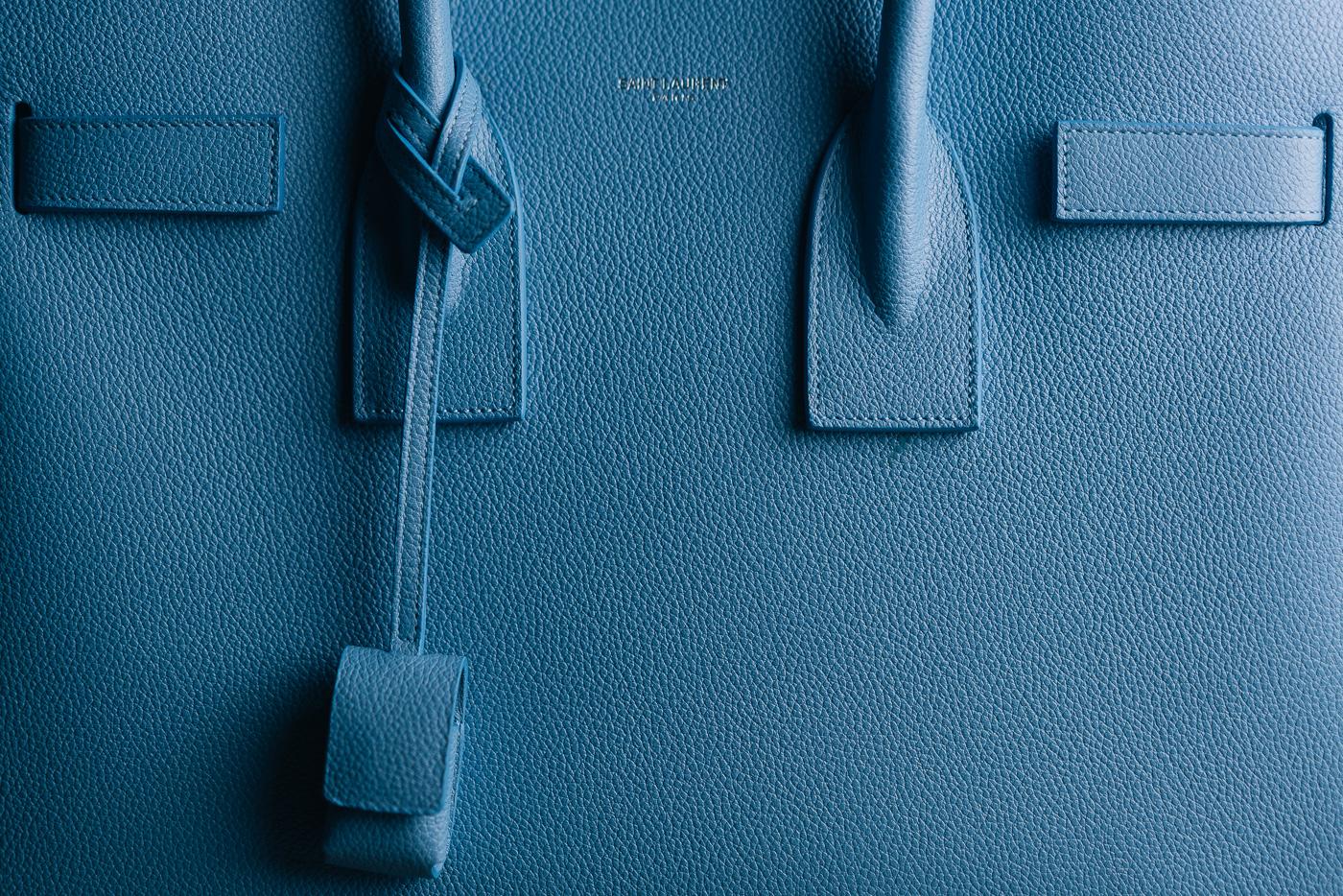 Saint Laurent Sac de Jour Light Blue (3)