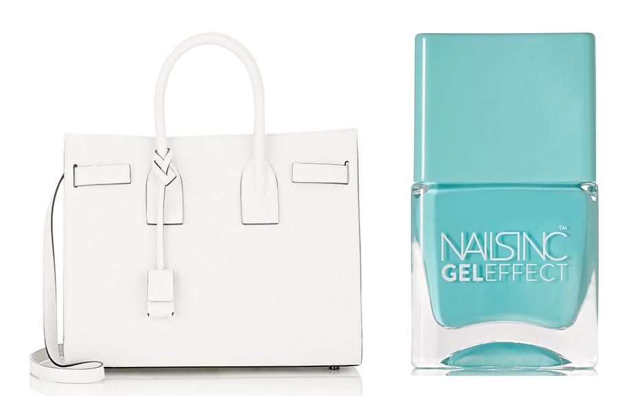 Saint-Laurent-Sac-de-Jour-Tote-and-Nails-Inc-Gel-Effect-Nail-Polish-in-Queens-Garden