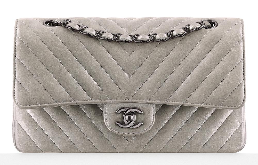 Chanel-Metallic-Chevron-Classic-Flap-Bag