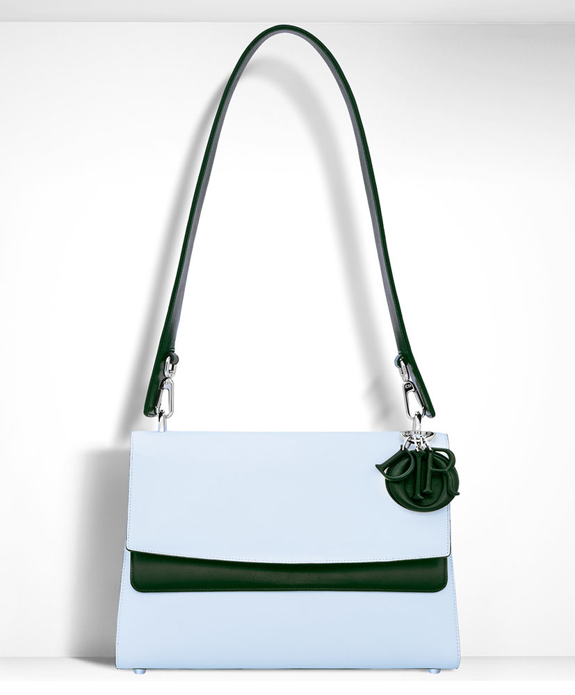 Christian-Dior-Be-Dior-Double-Flap-Shoulder-Bag-Blue
