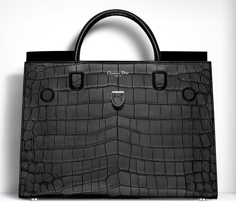 Christian-Dior-Large-Diorever-Bag-Black-Crocodile