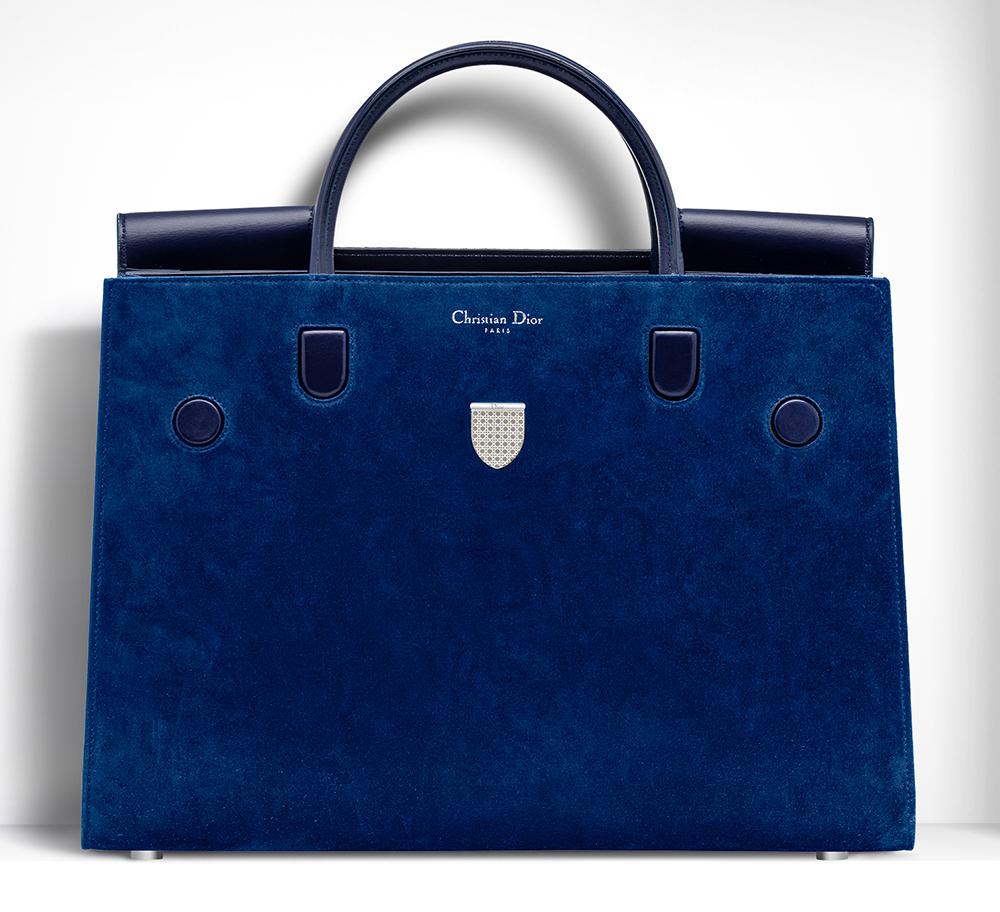 Christian-Dior-Large-Diorever-Bag-Blue-Suede