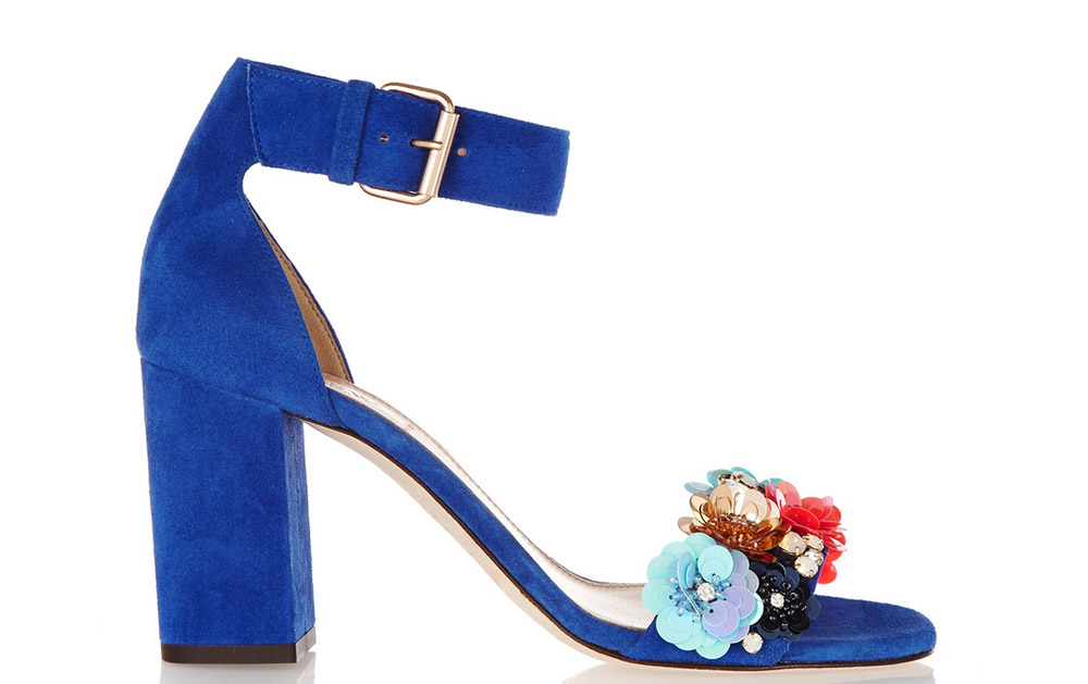 J. Crew Collection Embellished Suede Sandals