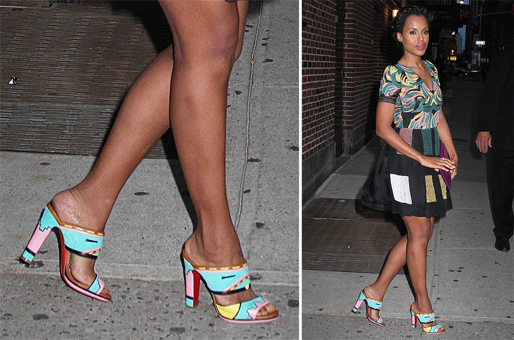 christian louboutin white spiked - 12 Pics to Prove Kerry Washington is the Undisputed Queen of the ...