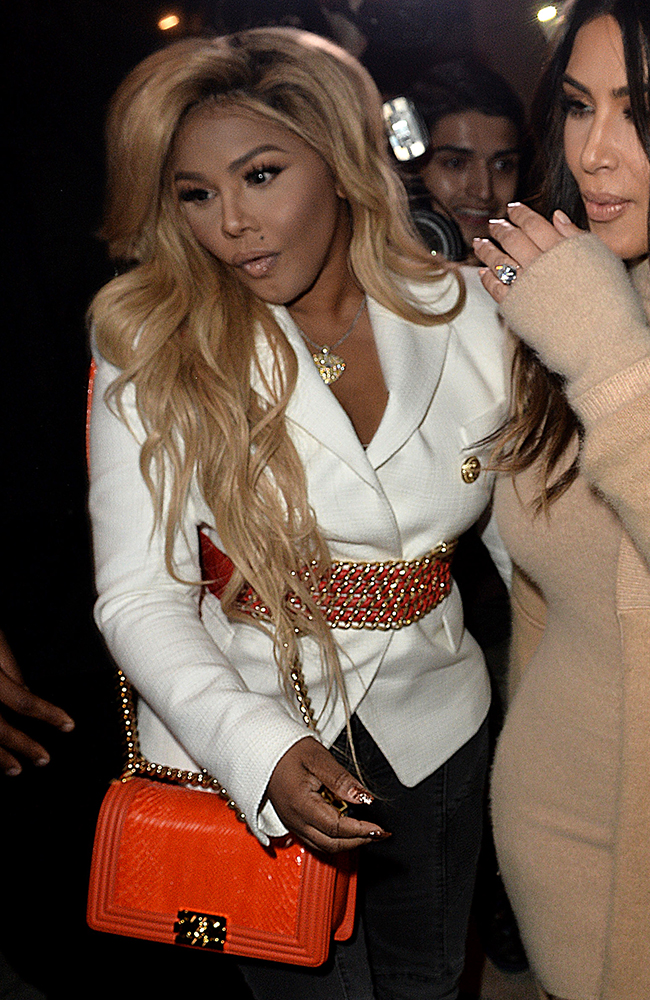 Lil-Kim-Chanel-Python-Boy-Bag